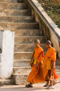 Young monks on a 'walk-and-talk'? By Flickr-user 'Pirateparrot', CC-licens http://www.flickr.com/photos/pirateparrot/